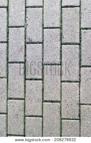 decorative paving tile on the sidewalk. background texture pattern.