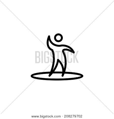 Surfing flat icon. Single high quality outline symbol of water for web design or mobile app. Thin line signs of swimming for design logo, visit card, etc. Outline logo of sport