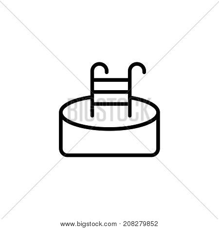 Pool flat icon. Single high quality outline symbol of water for web design or mobile app. Thin line signs of swimming for design logo, visit card, etc. Outline logo of sport