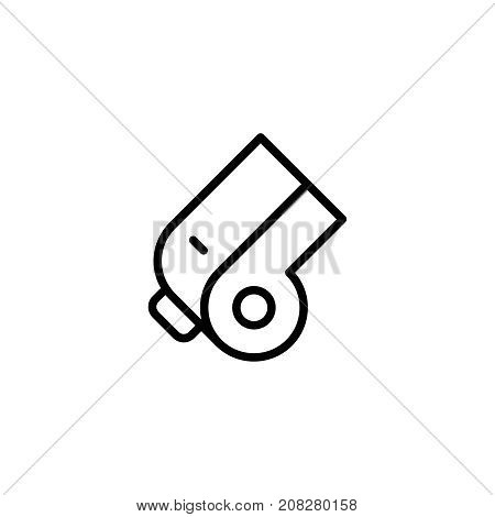 Whistle flat icon. Single high quality outline symbol of water for web design or mobile app. Thin line signs of swimming for design logo, visit card, etc. Outline logo of sport