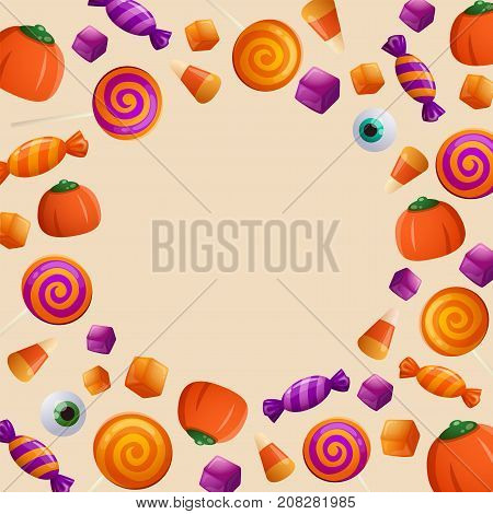 Trick or Treat. Halloween Sweet and Candies.