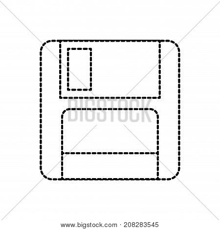 magnetic floppy disk icon for computer data storage vector illustration