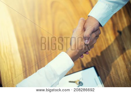 Business Man Handshake For Sucess Agreement