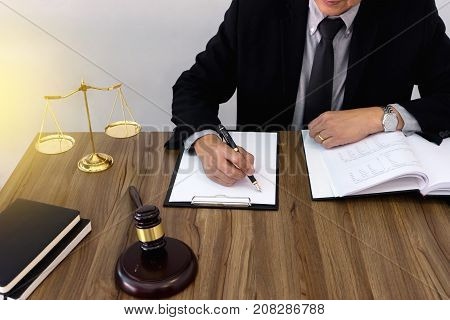 Lawer Or  Judge Work In The Office