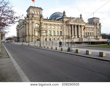 Berlin, the Bundestag, home of the German parliament