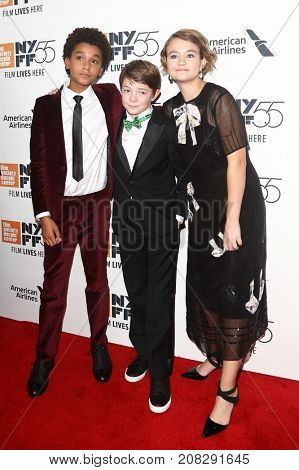 NEW YORK-OCT 07: (L-R) Oakes Fegley, Jaden Michael and Millicent Simmonds attend the