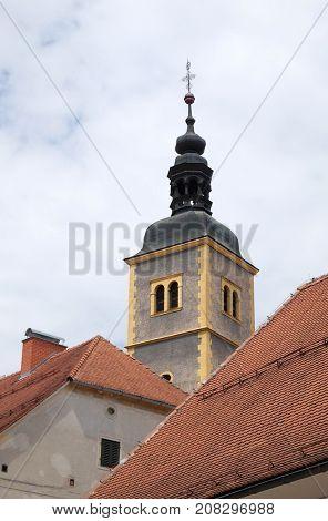 VARAZDIN, CROATIA - JULY 09: Saint John the Baptist church in Varazdin, Croatia on July 09, 2016.