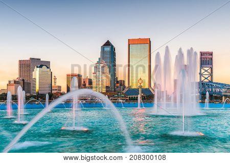 Jacksonville, Florida, USA and skyline.
