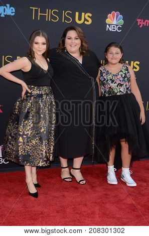 LOS ANGELES - SEP 26:  Hannah Zeile, Chrissy Metz, Mackenzie Hancsicsak at the