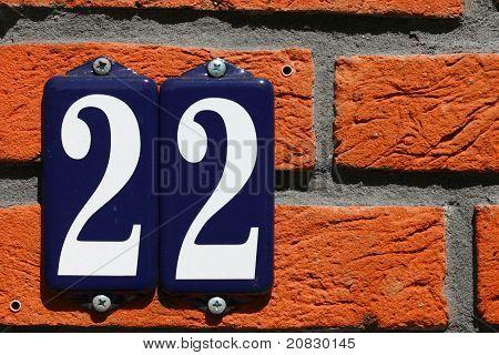 Address Number 22