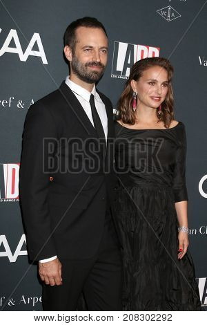 LOS ANGELES - OCT 7:  Benjamin Millepied, Natalie Portman at the 2017 Los Angeles Dance Project Gala at the LA Dance Project on October 7, 2017 in Los Angeles, CA