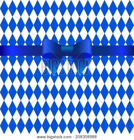 Oktoberfest card with blue rhombuses template.Vector Image