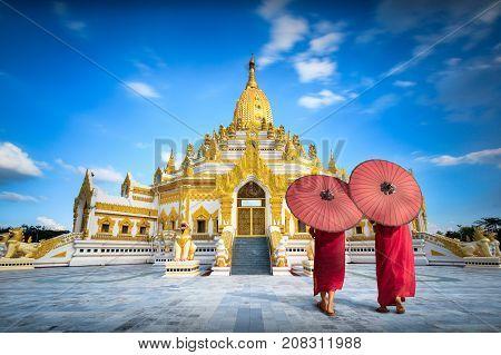 Swe taw myat buddha tooth relic pagoda Yangon Myanmar (Burma)