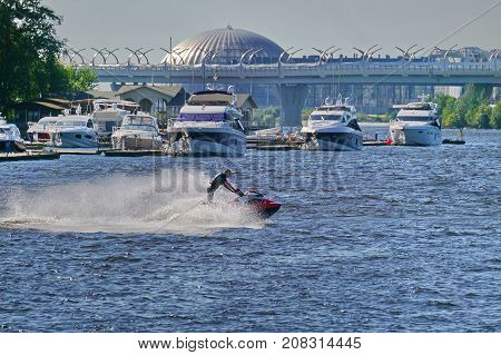 Wave runner, Saint-Petersburg, Krestovskiy island, summer 2017