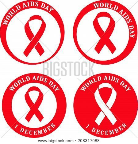 Stop Aids logo. World Aids Day concept