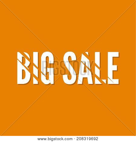 Sale banner. Vector tag. Big sale with strips from the claws.