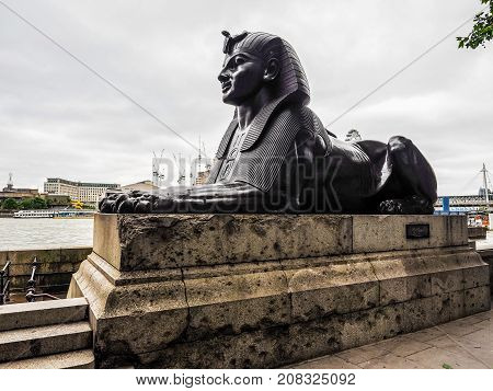 Egyptian Sphinx In London, Hdr
