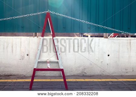 modern security barrier at a construction site