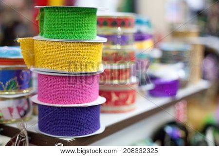 Colorful Embroidering Textile