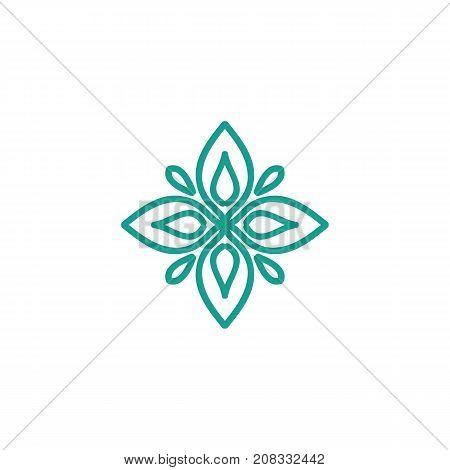 Arabic vintage decorative design element. Vector illustration
