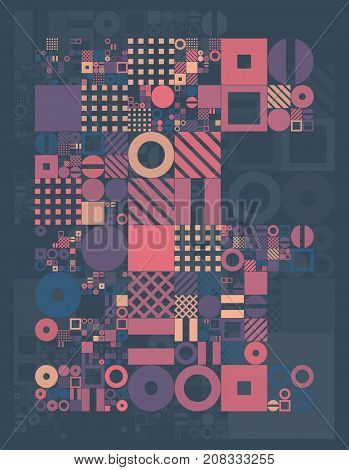 Vector minimal covers procedural design. Futuristic minimalistic layout. Conceptual generative background. Journal or book cover template. eps10.