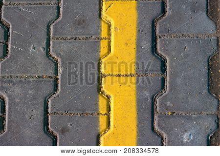 grunge Yellow hazard stripe texture background asphalt