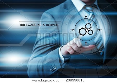 Software as a Service Network Internet Business Technology Concept.