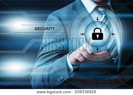 Cyber Security Data Protection Network Encryption Privacy Web Internet Business Technology Concept.
