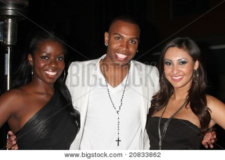 LOS ANGELES - JUN 4:  Camille Winbush, Darnell Appling, Francia Raisa at the Darnell Appling Birthday Party hosted by Camille  and Francia Raisa at Cafe Entourage on June 4, 2011 in Los Angeles, CA