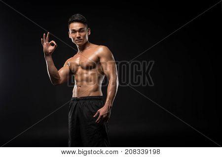 Sportsman Showing Ok Sign