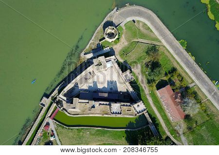 Ancient Smederevo fort on Danube river Serbia