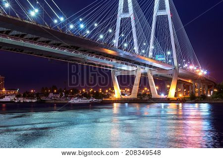 Big Obukhovsky Cable-stayed Bridge, Neva River