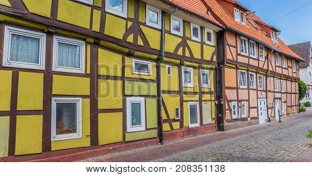 Panorama Of Colorful Half-timbered Houses In Rinteln