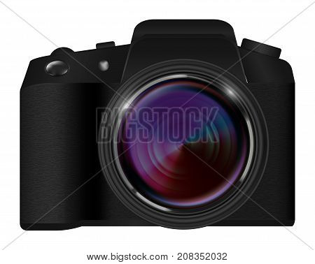 real dslr camera vector on a white background