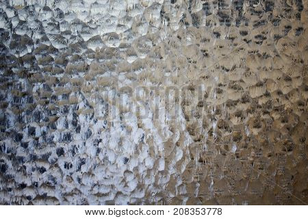 Frosted not tranparent glass with abstract pattern,