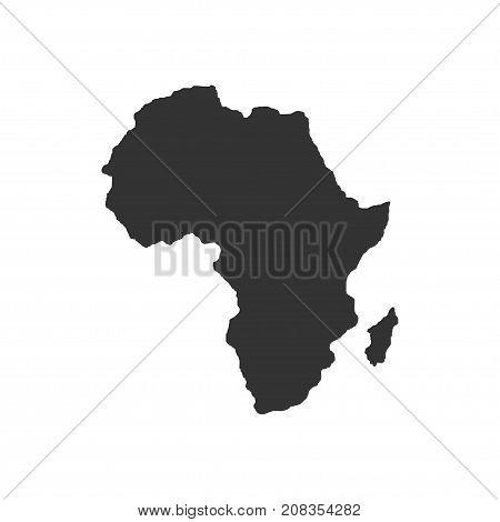 Territory of Africa. Dark background. Vector illustration