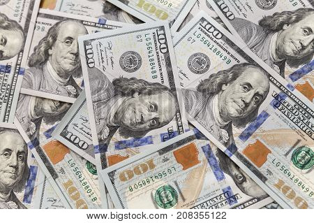 One Hundred Dollars Notes Background Texture