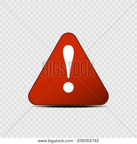 Danger-warning-attention sign on a grey background. Vector illustration.