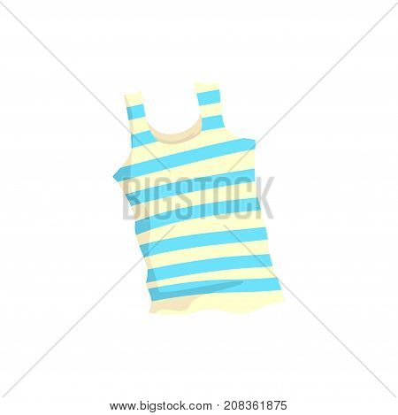 Nautical frock or singlet cartoon vector Illustration isolated on a white background