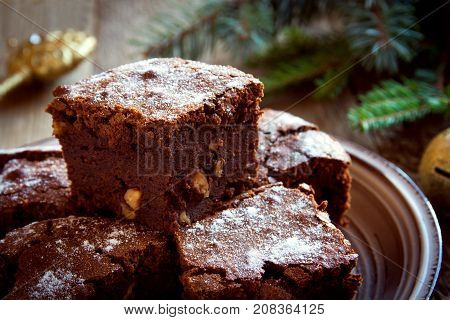 Chocolate Brownie For Christmas