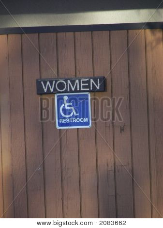 Sign For Womens Restroom