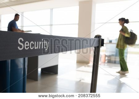 Security check of Baggage and passengers in airport