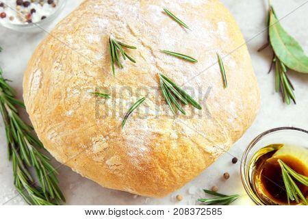 Ciabatta Bread With Rosemary