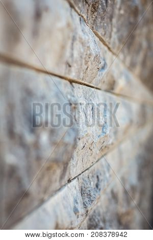Gray Stone Wall Background With Bokeh Effect