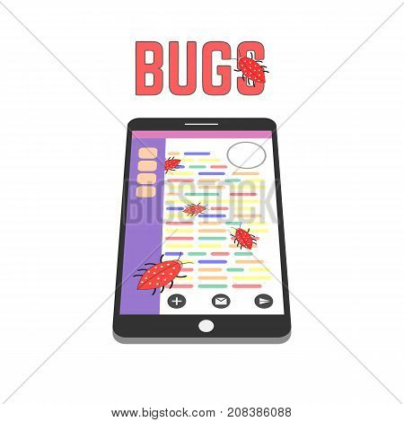 Digital Bugs On The Smartphone Screen