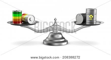 Choice power source. Isolated 3D illustration