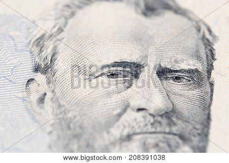 Fifty dollars. close-up . Photos in the studio