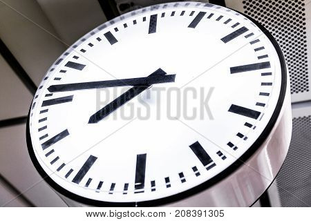 Close up on the clock abstract time background.