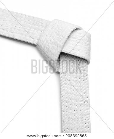 Karate belt on white background