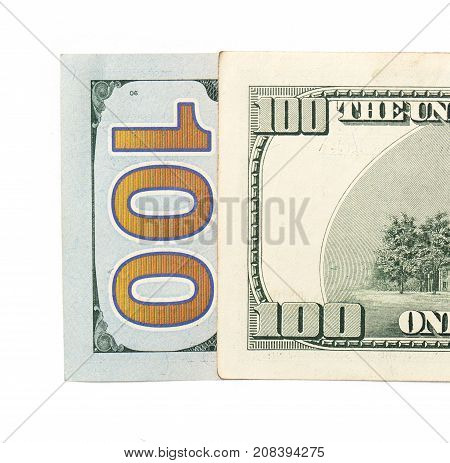 hundred dollars. close-up . Photos in the studio